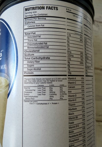 Fit Frappe Nutritonal Stats