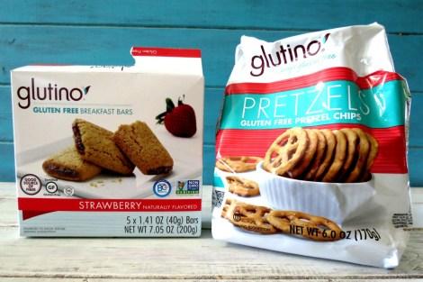 Glutino Snack Bars and Pretzels