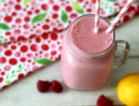 Pink Raspberry Lemonade Smoothie