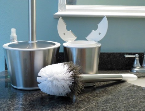 Stainless Steel Toilet Brush & Canister #OXOSpringCleaning
