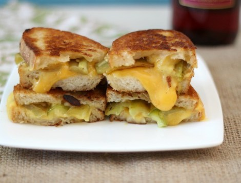 Garlicky Anaheim Pepper Grilled Cheese  #SundaySupper