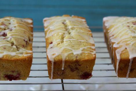 Rasberry Lemon with Lemon Glaze Bread