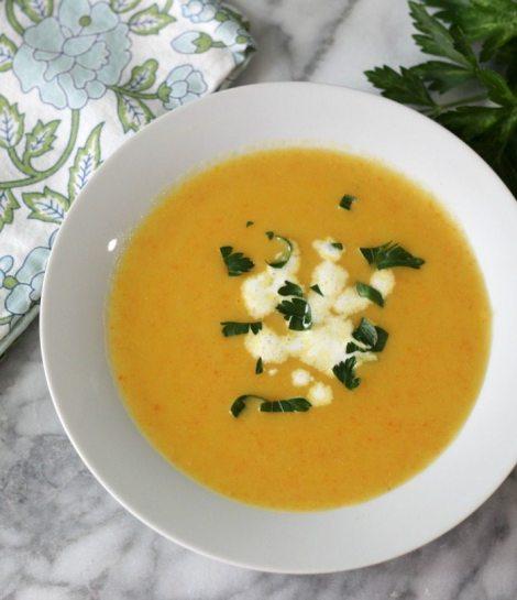 Potato Carrot Leek Soup #SundaySupper