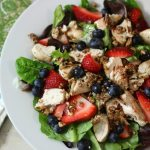 Chicken & Fruit Salad with Blood Orange Dressing