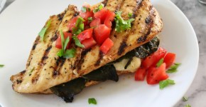 Chili Lime Chicken Stuffed Poblano