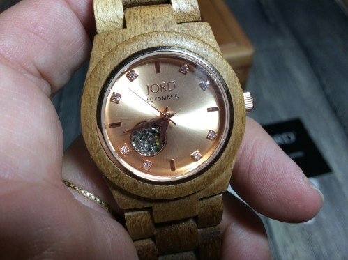 JORD rose gold wood watch