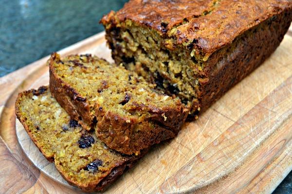 Paleo Healthier Banana Sour Cream Bread