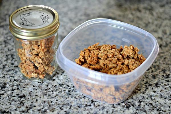 Peanut Butter Granola Storage