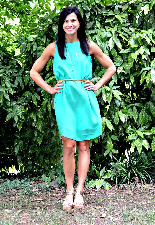 Le Tote Green Dress 3