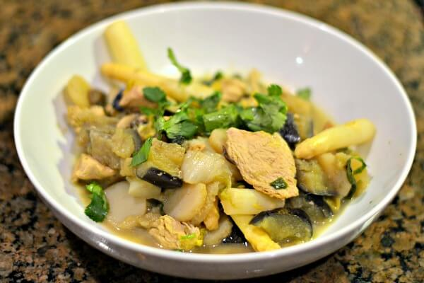 Whole30 green curry stir fry.
