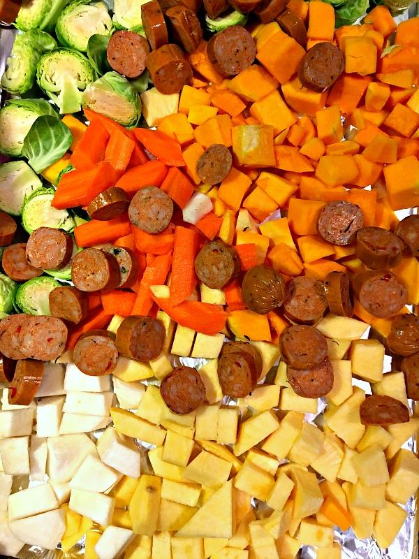 One Pan Roasted Veggie Dinner
