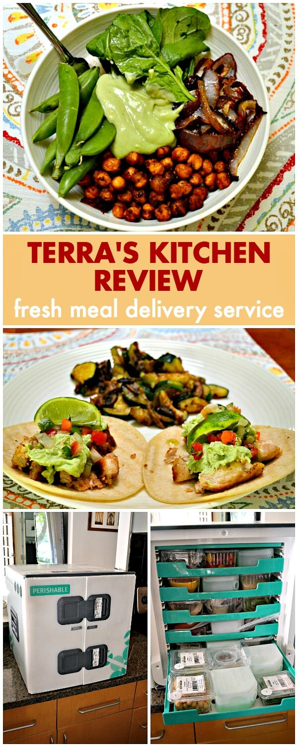 Terra's Kitchen Review: a fresh meal delivery service with over 40 weekly meal options including gluten-free, vegetarian, Paleo and low fat meals.