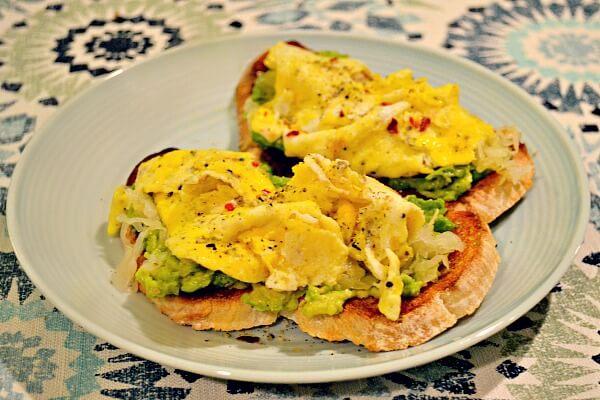 Egg and avocado toast