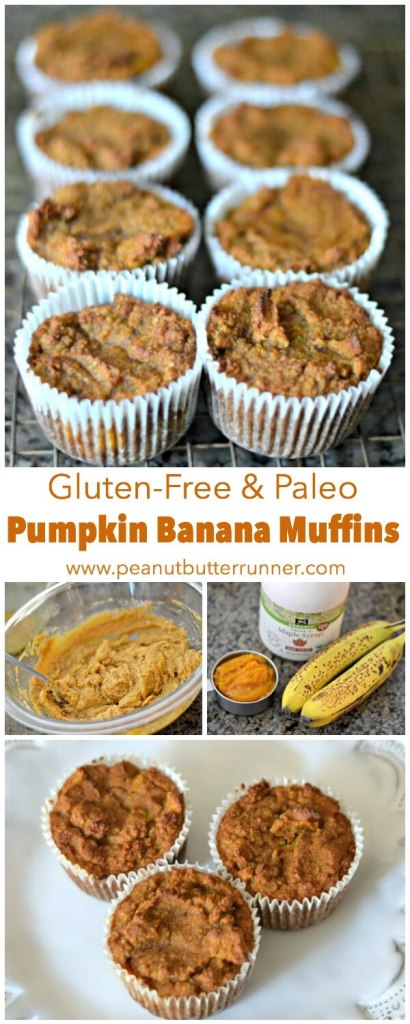 These gluten-free and paleo pumpkin banana muffins are a perfect ...