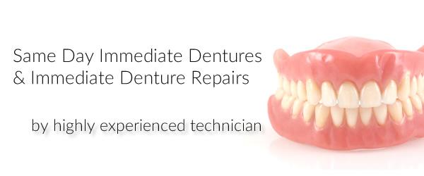 Immediate dentures available 7 days a week in Kingston, London