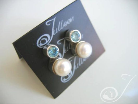 Laura Blue Topaz Earrings