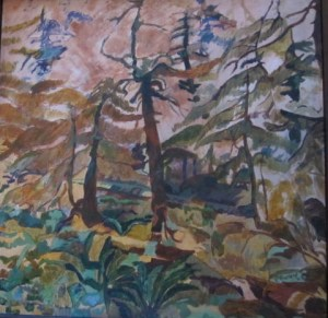 "Forest on Olympic Peninsula Acrylic on Canvas 30""x 30"" $1600"