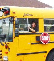 DJ Pearl drives school bus