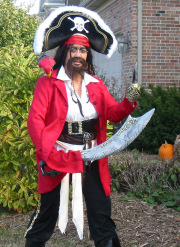 DJ Pearl in pirate costume