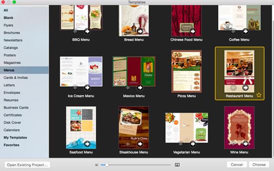 make a food menu - Onwebioinnovate