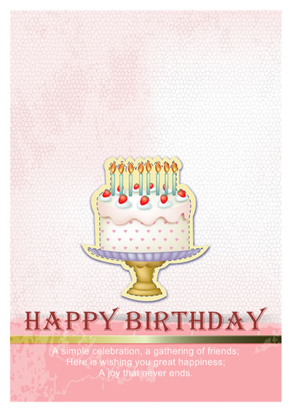 Birthday Card Templates Greeting Card Builder - birthday cake card template