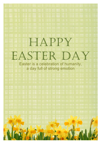 Easter Card Templates Greeting Card Builder - sample easter postcard template