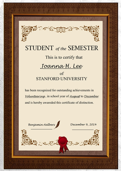 Certificates Templates  Sample \u2013 Design Excellent Certificates with