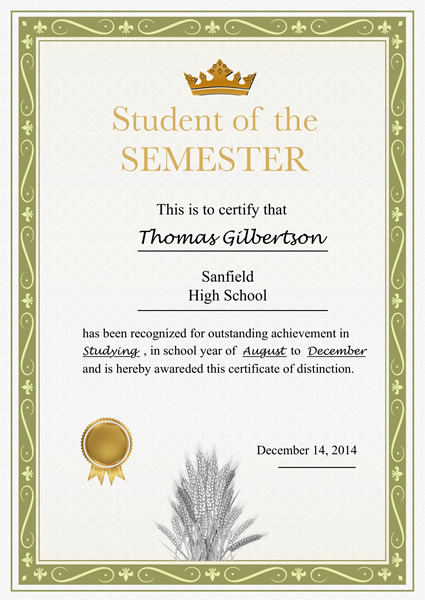 Certificate Sample Printable Certificate Template · Graduation - sample school certificate