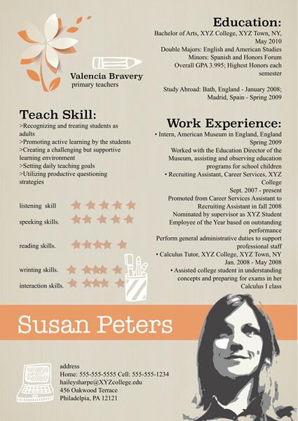 Resume Templates \ Samples u2013 Design Resume from free Templates - publisher resume templates
