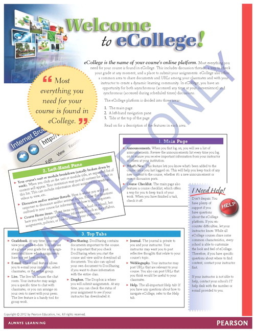 Pearson Education  Pearson Education, Success Tips Welcome to - college success tips