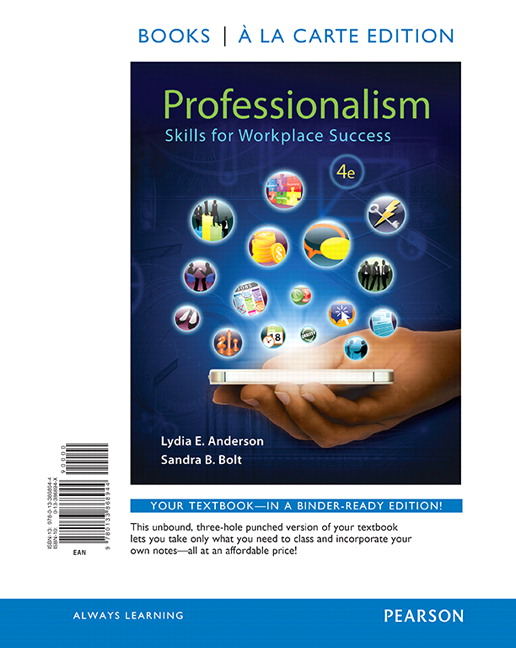 Anderson  Bolt, Professionalism Skills for Workplace Success Pearson