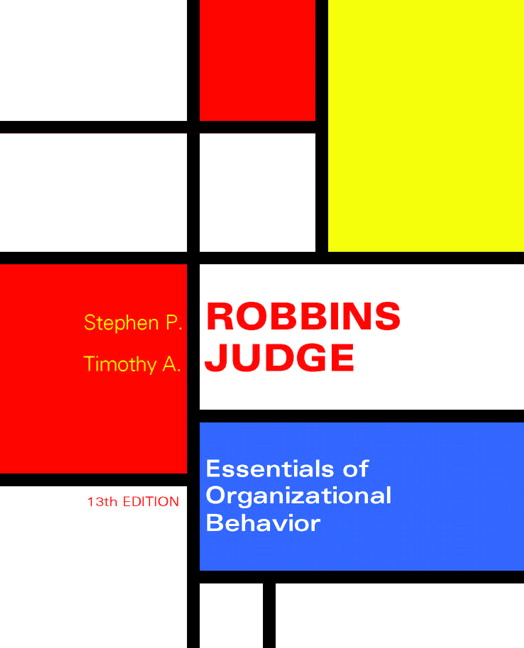Robbins  Judge, Essentials of Organizational Behavior Pearson