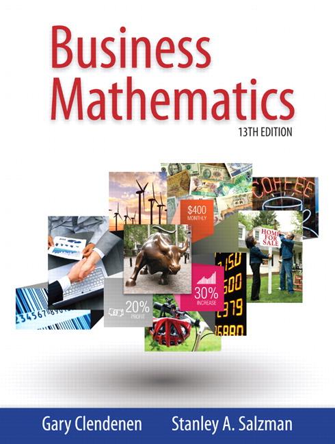 Clendenen  Salzman, Business Mathematics Pearson - business math