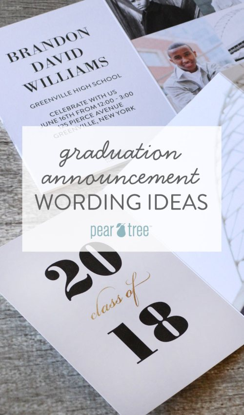 Medium Of Graduation Announcements Wording