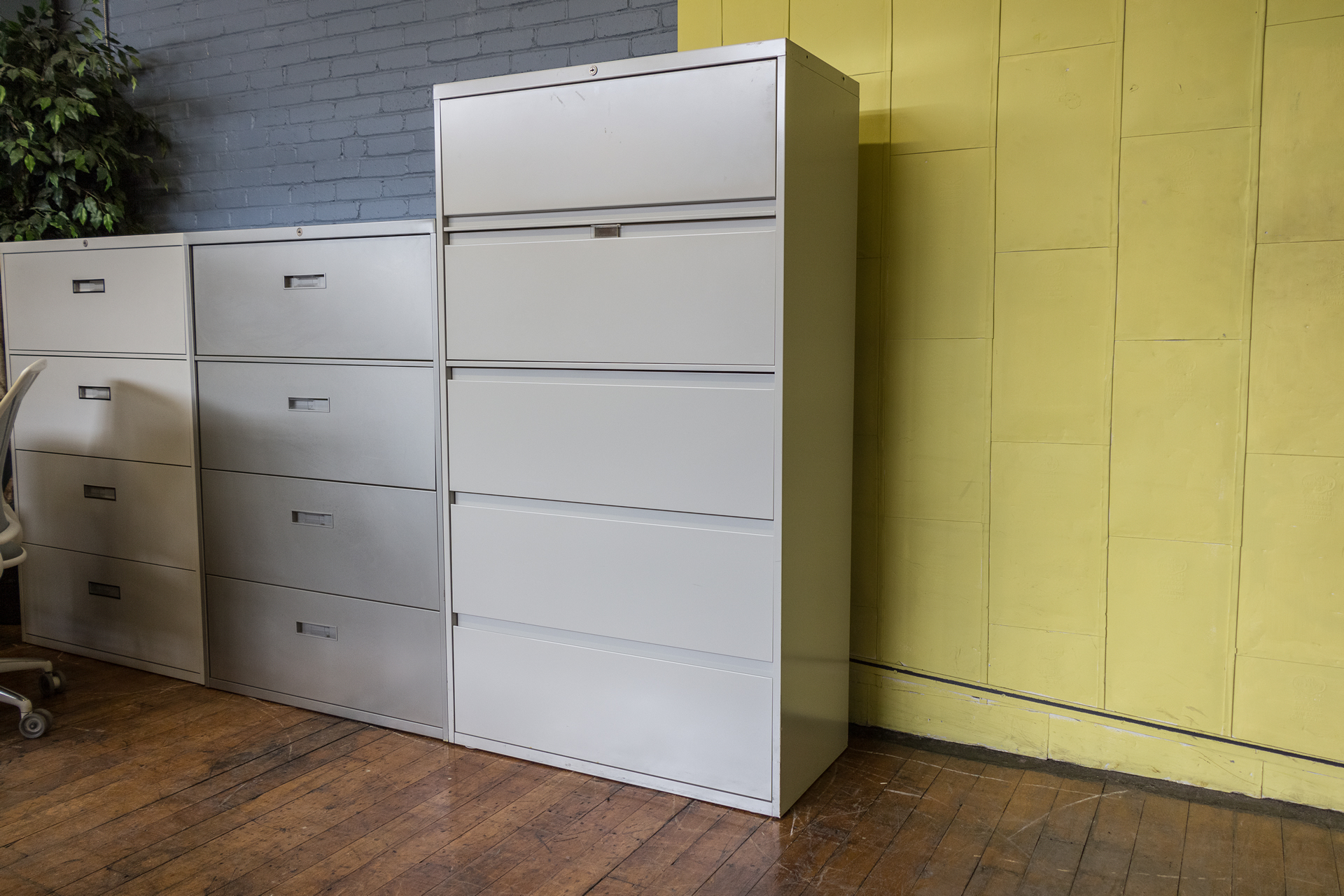 Steelecase 36″ 5 Drawer Lateral File Cabinets