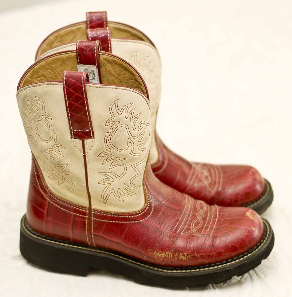 Red Ariat Fat Baby Boots Boot Hto