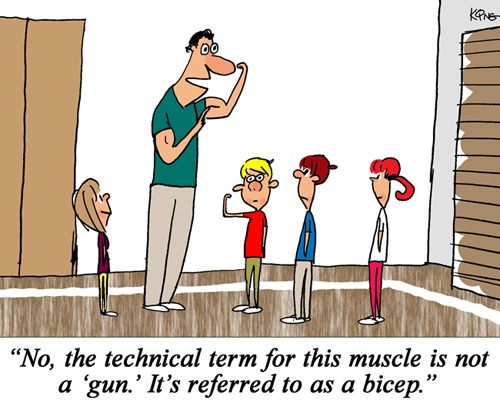 Physical Education PE Central cartoons