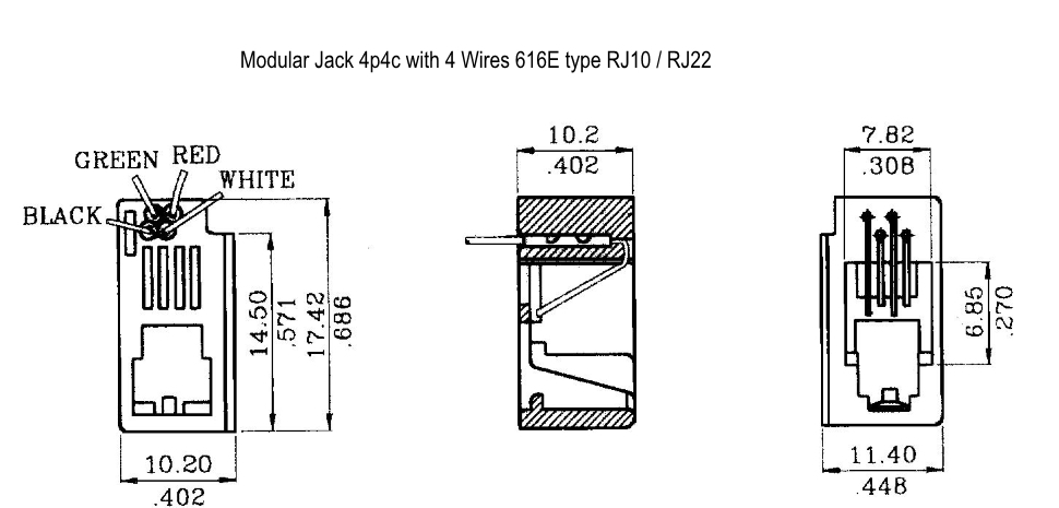 Male Rj11 Jack Wiring Diagram Online Wiring Diagram