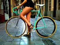Fixie Girl Wallpaper Bianchi Pista 1980 Pedal Room