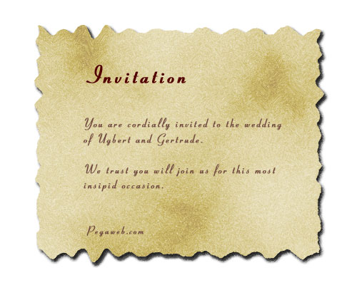 Making a Wedding Invitation in Photoshop - marriage invitation letter format