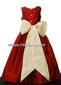 Claret Red and Buttercreme Jr Bridesmaids Dress Style 388 ...