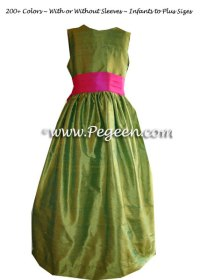 Lime Green and Hot Pink Junior Bridesmaids Dress Style 398 ...