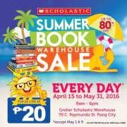 Scholastic Summer Warehouse Book Sale 2016
