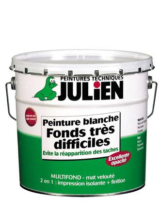Sous-couche Peinture blanche fonds très difficiles - Peintures Julien - Peinture Julien Sous Couche