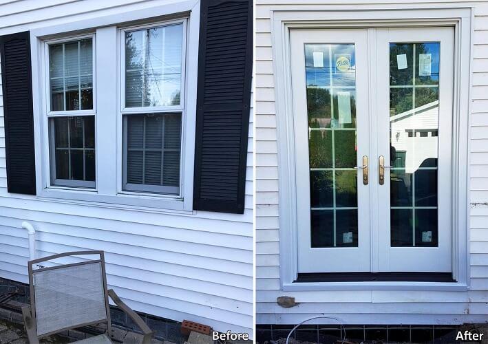 Patio Door Replaces Window For Easy Patio Access