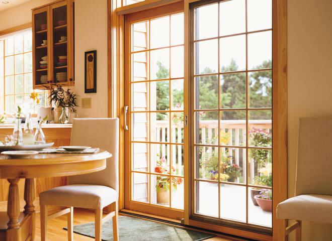 track panels for sliding glass doors
