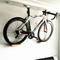 PELLOR Wall Mounted Bike Rack High-duty Beech Wood MTB ...