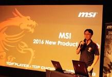 Laptop Gaming MSI GTX 10 presentation