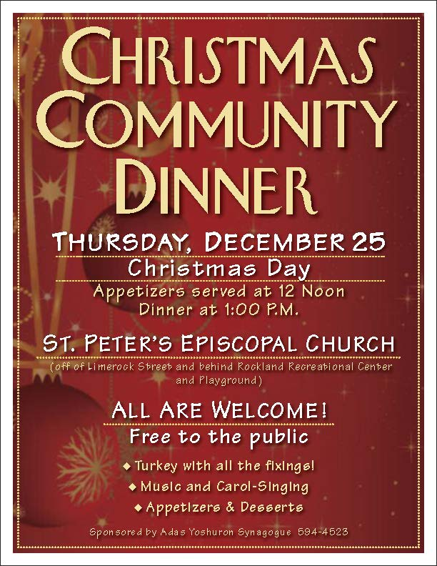 community dinner flyer - Solidgraphikworks