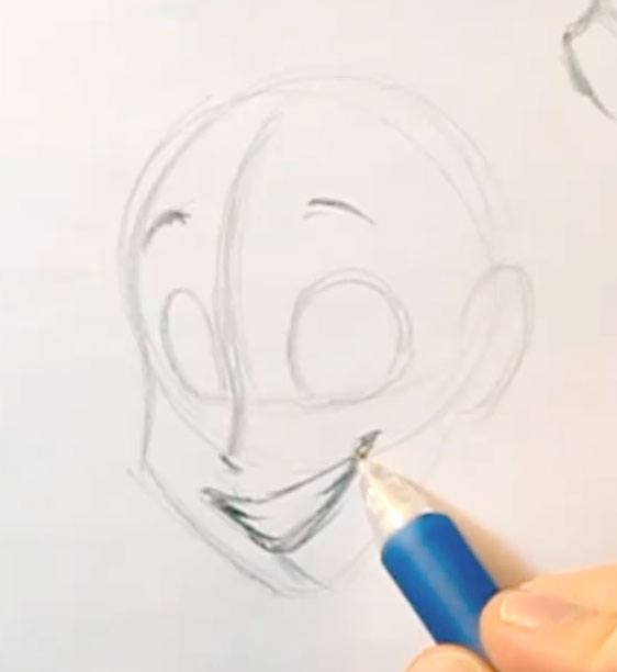 How to draw a smile in super easy steps